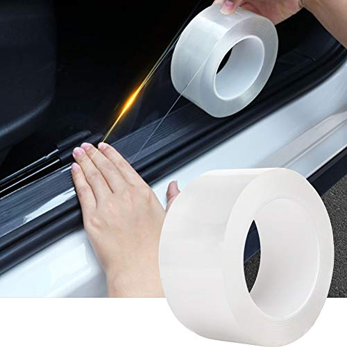 TYLife Car Door Edge Guard Clear,Anti-Collision Fits,Door Entry Guards Scratch Cover for Most Car(1.9In x 33Ft, Transparent)