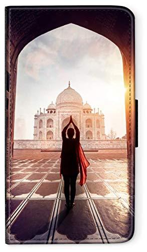 blitzversand Flip Case Indien India kompatibel für Huawei P10 Tadsch Mahal 2 Handy Hülle Leder Tasche Klapphülle Brieftasche Etui rund um Schutz Wallet M9
