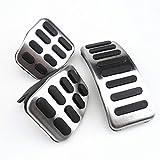 NUIOsdz 3pcs / Set Pedales Deportivos de Pastillas de Freno de Gas de Embrague MT, para Volkswagen Golf Bora Mk4 Polo Beetle