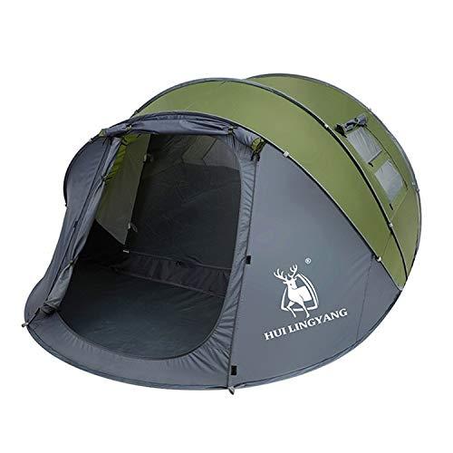 Tienda a prueba de viento al aire libre, tienda de campaña para camping de la familia, tienda de camionetas de caminata Multi-persona Camping de doble capa a prueba de lluvia Tienda de apertura de vel