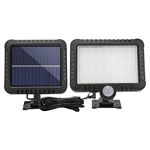 Luces solares al aire libre, IP65, cuerpo humano, inducción, luz solar para patio, garaje, luces de pared, 56 LED