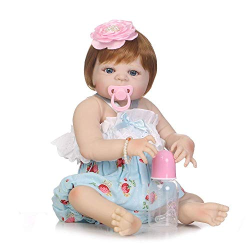 WYZQ Muecas Reborn, mueca de simulacin de Renacimiento de beb, Modelo de Disfraz 0-3M, mueca de compaa de Crecimiento de beb de Silicona Completa, muecas nutritivas de 57 cm