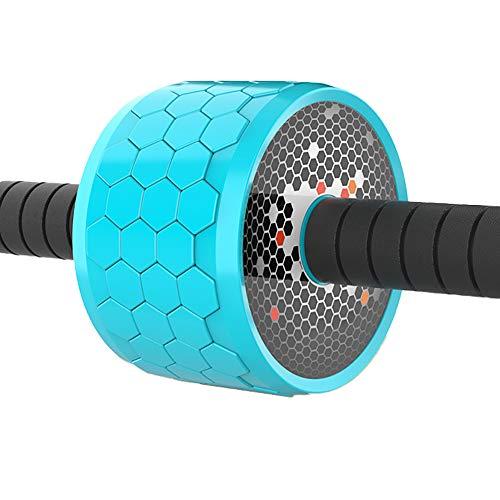 HUI JIN AB Carver Pro Roller Wheel Bauchtrainer Core Workout Bauchmuskulatur für Mann Frau Blau