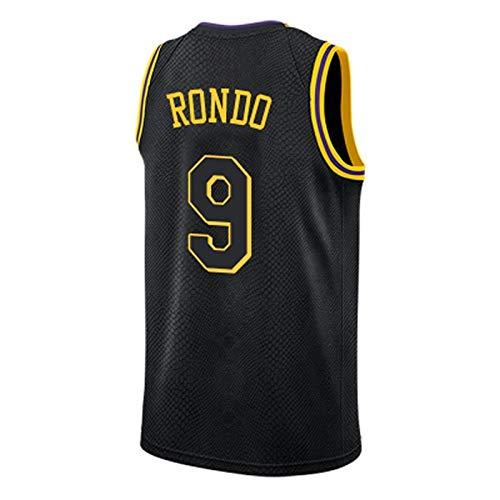 ZJJY Maglia Basket Rajon Rondo # 9 Jersey di Pallacanestro degli Uomini di NBA, Traspirante Ricamato Felpa Fitness T-Shirt Resistente all'Uso Fan Shirt, XS-XXL, L010XQ (Size : XS)