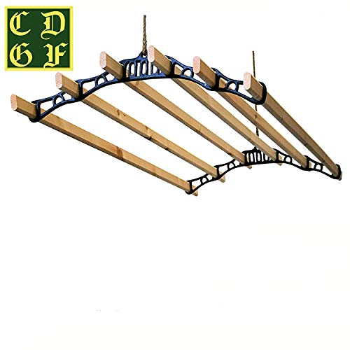 6 Lath Victorian Kitchen Ceiling Pulley Clothes Airer Maid...