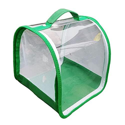 DierCosy Tools Insectos Plegable de Malla de 360 ??Grados Transparente Hábitat Jaula para terrarios para incubar Hermosa decoración de jardín