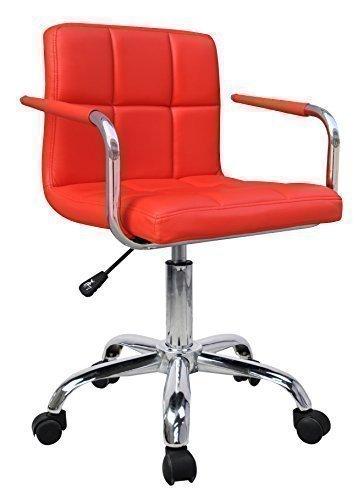HNNHOME - Silla Giratoria de Cuero Sintético con Nuevo Diseño - Mueble de Oficina Silla Computador