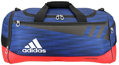 adidas Unisex Team Issue Medium Duffel Bag, Blue Ratio/Scarlet/Black/White, ONE SIZE