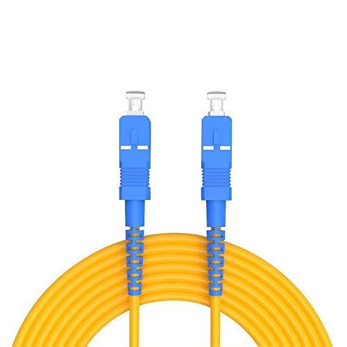 Buacoz 30Meters 100ft SC/UPC-SC/UPC Single-Mode Fiber Optic Cable SC...