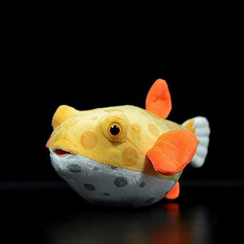 jgzwl Plüschtier23cm Lange Real Leben Cubicus Boxfish Plüsch Spielzeug Lebensechte Extra Weiche Aquarium Fisch Kuscheltiere Spielzeug Geschenke Für Kinder