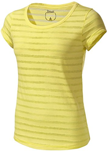 Crivit® Damen Wellness-Shirt (Gr. M 40/42, gelb gestreift)