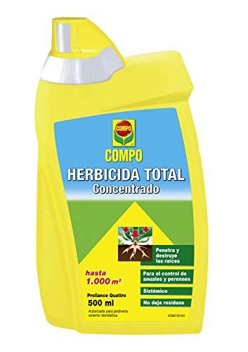 Compo Herbicida Total, Spray Concentrado, Sistémico, Sin residuos, Apto para jardinería Exterior doméstica, hasta 1000 m², 500 ml
