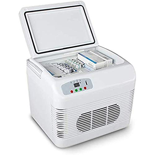 Drug Insulin Vaccine Refrigerator, 12L Portable Car Truck Refrigerator Freezer with Cooling and Warming Function, Mini Electric Cooler Warmer for Driving Travel Fishing Outdoor and Home Use,White