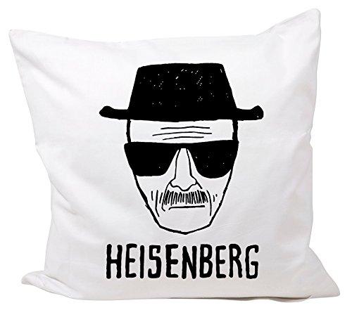 Druckerlebnis24 'Almohada de 40x 40cm Heisenberg con Gafas de Sol Sombrero de Kult Fun de algodón–Cojín Funda de edredón de 40x 40–Diversión de de Culto de DVD de Fun de JGA