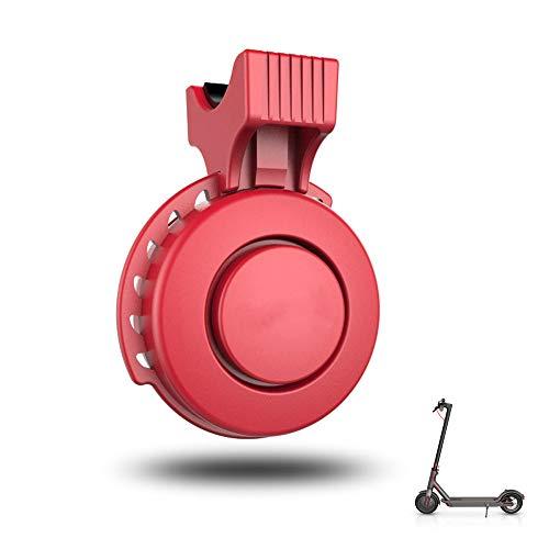 ABEDOE Campanello Elettronico per Bicicletta Compatibile con Auto Xiaomi Electric Anello Bici Ricarica USB Impermeabile 3 modalità Campanello di Allarme Forte per Sicurezza,Rosso