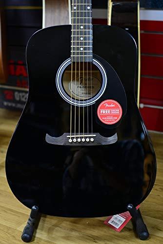 Fender FA-125 Dreadnought - Guitarra acústica (madera de nogal), color negro