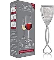 PureWine ワンドワインフィルター | ワインの頭痛を解消 | 亜硫酸塩とヒスタミンを除去 | ガラス製 (8個パック)