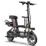 KADDGN Scooter électrique -Portable Pliable, Batterie lithium-15A Vitesse Max 25 km/h 45-55km Plage de équitation, légers Adultes Scooters électriques,Noir