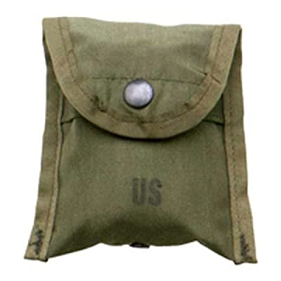 Military Outdoor Clothing Previously Issued U.S. G.I. Olive Drab Nylon Compass First Aid Pouch