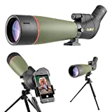 Gosky 2019 Updated 20-60x80 Spotting Scope with Tripod, Carrying Bag and Smartphone Adapter