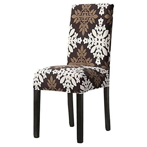 1/2/4/6pcs moderno impreso silla cubierta elástico asiento silla cubre desmontable y lavable estiramiento banquete hotel comedor cubierta hoja estilo B1, China, 6 piezas