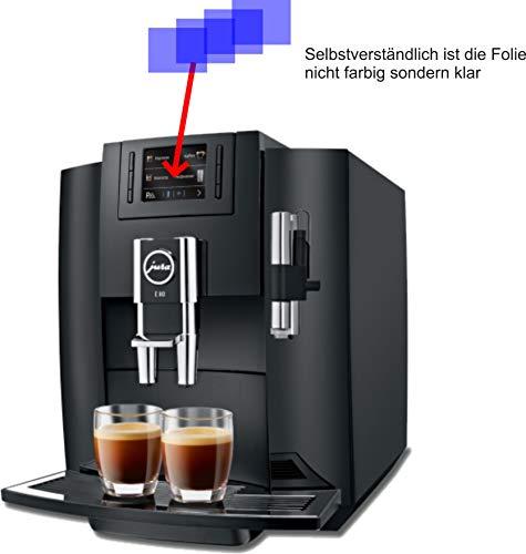 4ProTec I 4X Crystal Clear klar Schutzfolie für Jura E80 Piano Black 15083 Kaffeevollautomat Displayschutzfolie Bildschirmschutzfolie Schutzhülle Displayschutz Displayfolie Folie