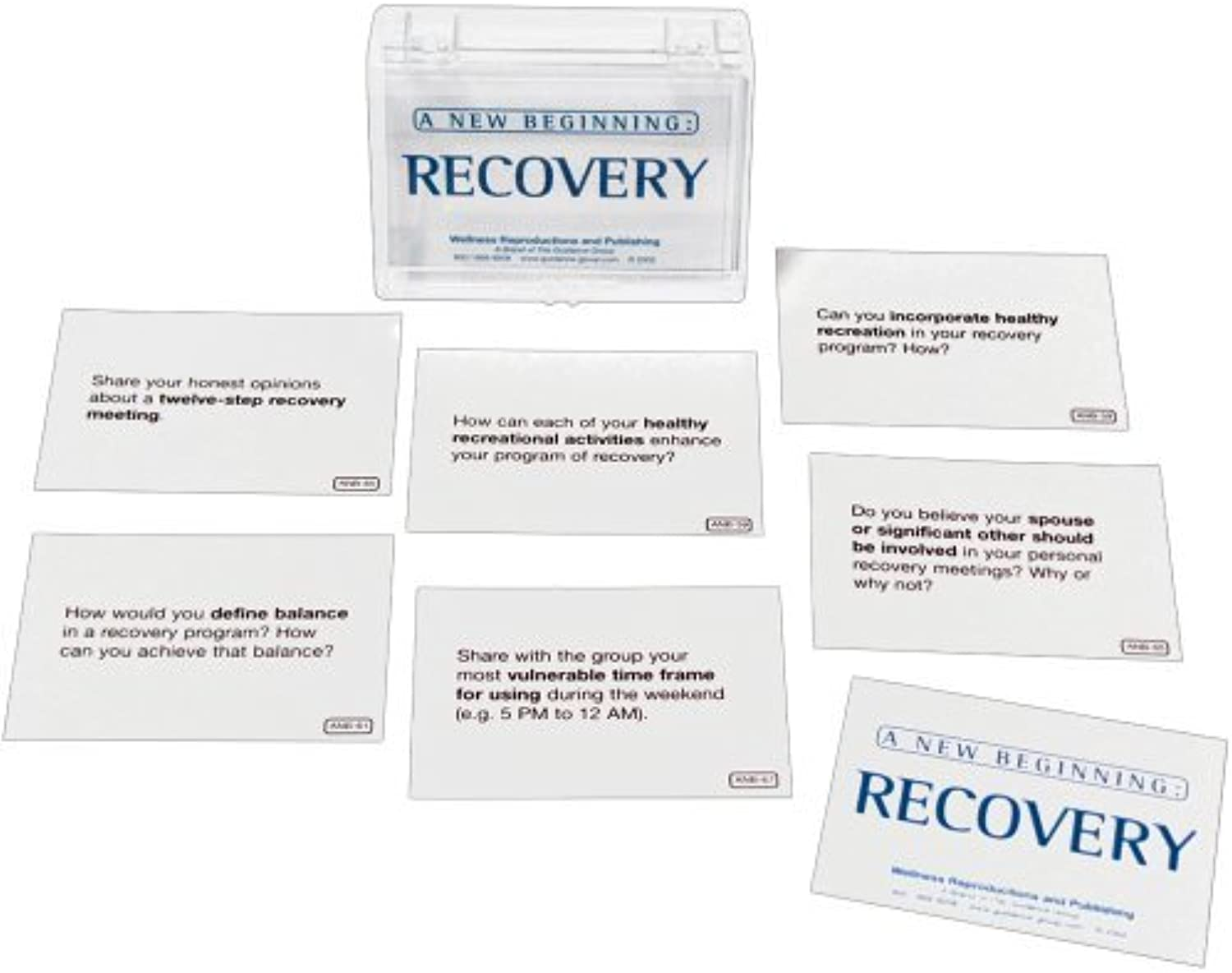 A New Beginning Recovery Card Game by Wellness Reproductions & Publishing