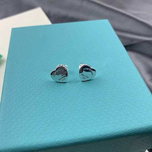 liuliu Classic blue love female Earrings Sterling Silver S925 fashion jewelry, original female earrings as gifts for girlfriend