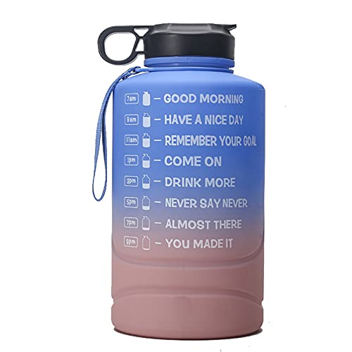 Botella Agua Acero Inoxidable - Termo para Agua Fria 350ml/Amarillo Botella Termica sin BPA Aislamiento de Vacío de Doble Pared Reutilizable para Niños, Colegio, Sport, Familia (2.2L,gris)