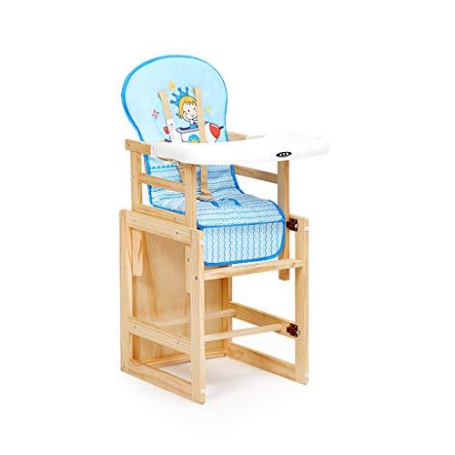 Chaises hautes, sièges et Accessoires Chaise de Salle à Manger Chaise bébé en Bois Massif Siège Enfant Chaise bébé Une Chaise Qui Peut être soulevée Lorsque Le bébé Mange Tabouret en Bois Massif Dine