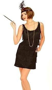 Forum Novelties Roaring 20 s Flapper Dress and Headband Black X-Large Costume  fit 14 to 18
