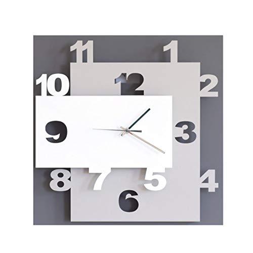 ARTI E MESTIERI or2869 C58 zegar ścienny, metal, błoto/nugat/biały, 40 x 8 x 40 cm