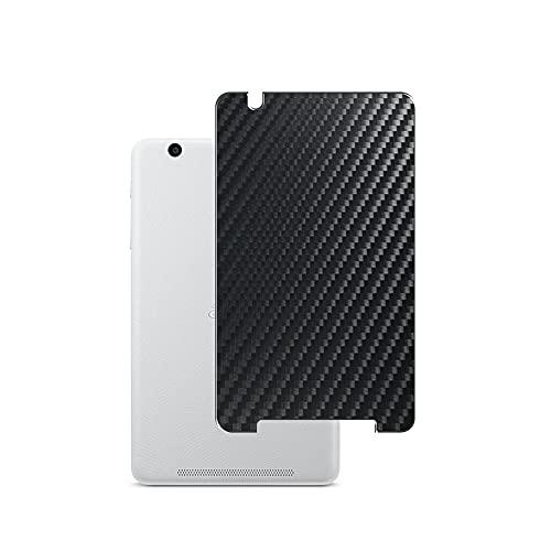 VacFun 2 Piezas Protector de pantalla Posterior, compatible con Acer Iconia one 8 B1-810 8' one8, Película de Trasera de Fibra de carbono negra Skin Piel