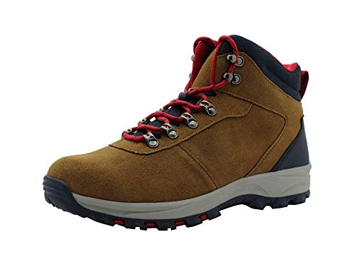 Amazon Essentials Men's Round Toe Lace-Up Boot Hiking Shoe, Brown, 10 Medium US