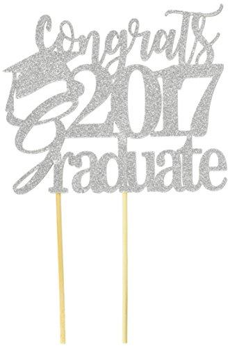 All About detalles plata Congrats 2017Graduate decoración para tarta para