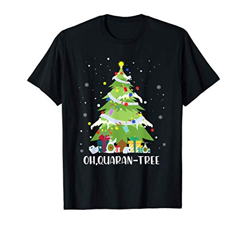 Quaran-Tree Christmas 2020 Funny Quarantine Christmas Tree T-Shirt