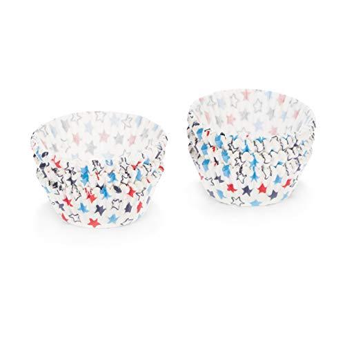 Patisse 2047920 Caissette à Cupcakes Lot de 200 Pièces Papier Étoile