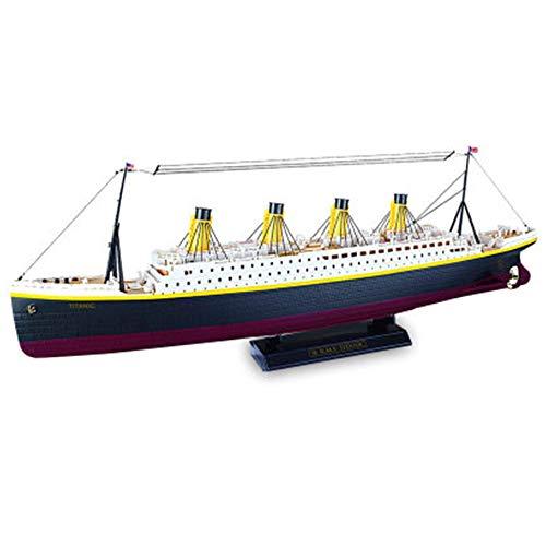 Ferngesteuertes Boot High Simulation Schiffsmodell Spielzeug Für Seen Und Pools RC Boat Mit LED-Licht Für Erwachsene Kinder Spielspielzeug Geburtstagsgeschenk Kinderspielzeug