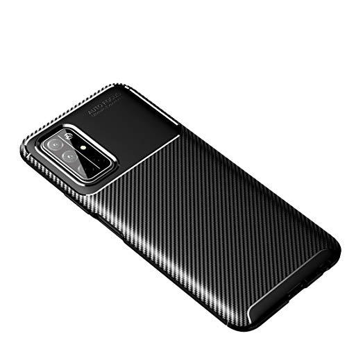 BEIJING  PROTECTIVECOVER+ / for Huawei Honor 30s Fibra de Carbono Textura TPU a Prueba de Golpes, Fashion Phone Funda para Protector (Color : Negro)