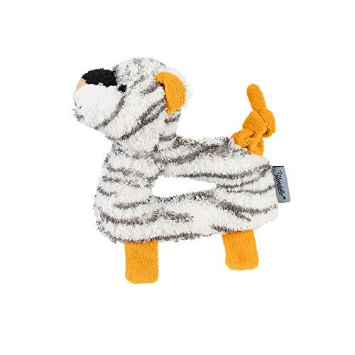 Sterntaler Greifling Kuschelzoo, Tiger Tapsi, Alter: 0-36 Monate, Größe: 14 x 14 cm, Farbe: Weiß
