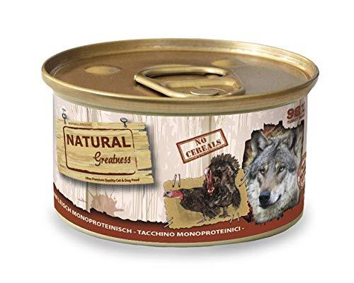 Natural Greatness Comida Húmeda para Perros Receta Monoproteica de Pavo Pack de 24 Unidades. 170 gr Cada Lata