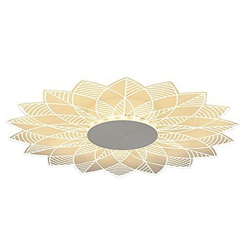FANGXMF Hojas Lámpara de techo LED redonda Norte de Europa Simplicidad Luz de panel plano Temperatura de 3 colores Blanco Luz cálida fría para el dormitorio Pasillo Oficina Escalera Cocina Sala de est