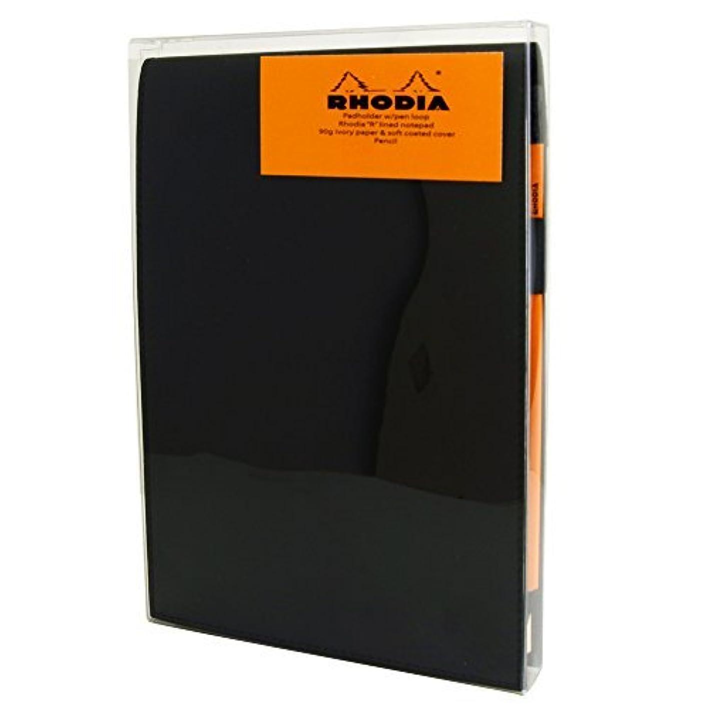 測定可能成熟したハプニングRhodia Black Notepad Gift Set 6X8.75 Lined [並行輸入品]