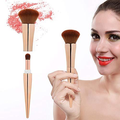 Blush Poudre Cosmétique Brosse Multifonctionnelle Portable Maquillage Brosse Femmes(Golden)