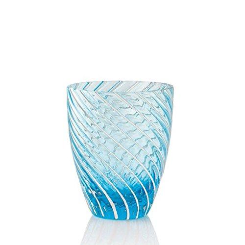 Italesse Vertigo Tumbler, Verre à eau cc. 380 bleu et blanc
