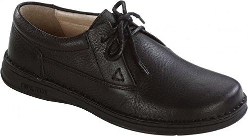 Birkenstock Schuhe ''Memphis'' in black brown aus echt Leder in Größe 39.0 mit breitem/normalem Fussbett Artikel-Nr. 406801