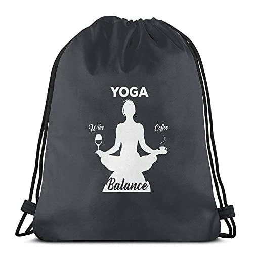 Bolsa de cordón para yoga, café, vino, yoga, bolsa de cuerda para cincha resistente al agua, bolsa de playa para gimnasio, compras, deporte, yoga, 36*42 cm