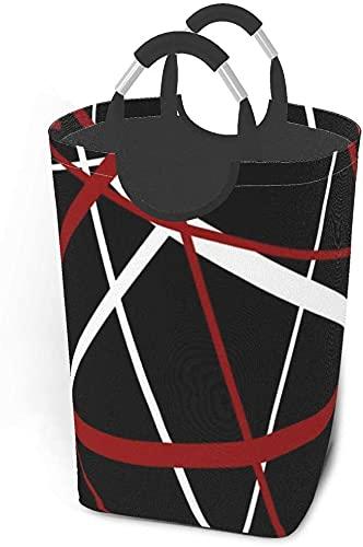 tvätt hämmar smutsiga klädpaket Röda, vita och svarta ränder Twitter bakgrunder Vikbart tygklädväska Tvättkorg