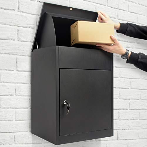 Todeco Boîte à Colis pour Lettres et Colis avec 2 clés, Boite aux Lettres Package Box convient pour La Maison, L'appartement, L'école, Le Bureau, 58x44.5x35cm