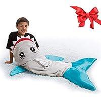 Snuggie Tails Shark All Season Comfy Blanket
